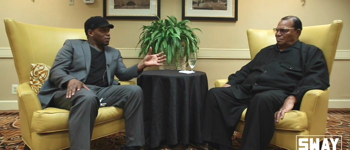 Sway and Louis Farrakhan