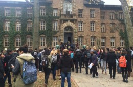 Princeton University's black students conduct sit-in over racial discrimination