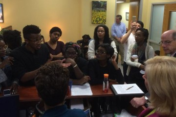 Towson University president signs list of demands set by black students
