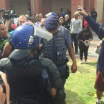 UWC students clash with police b