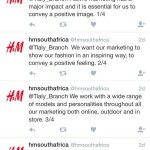 h&m says hiwte models portary a positive image b
