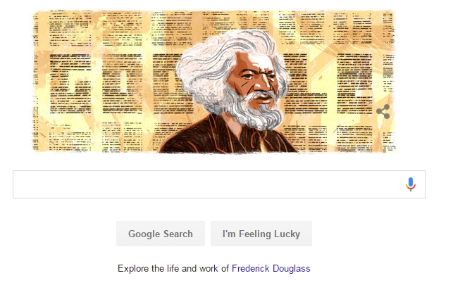 Google black history month homepage frederick douglas