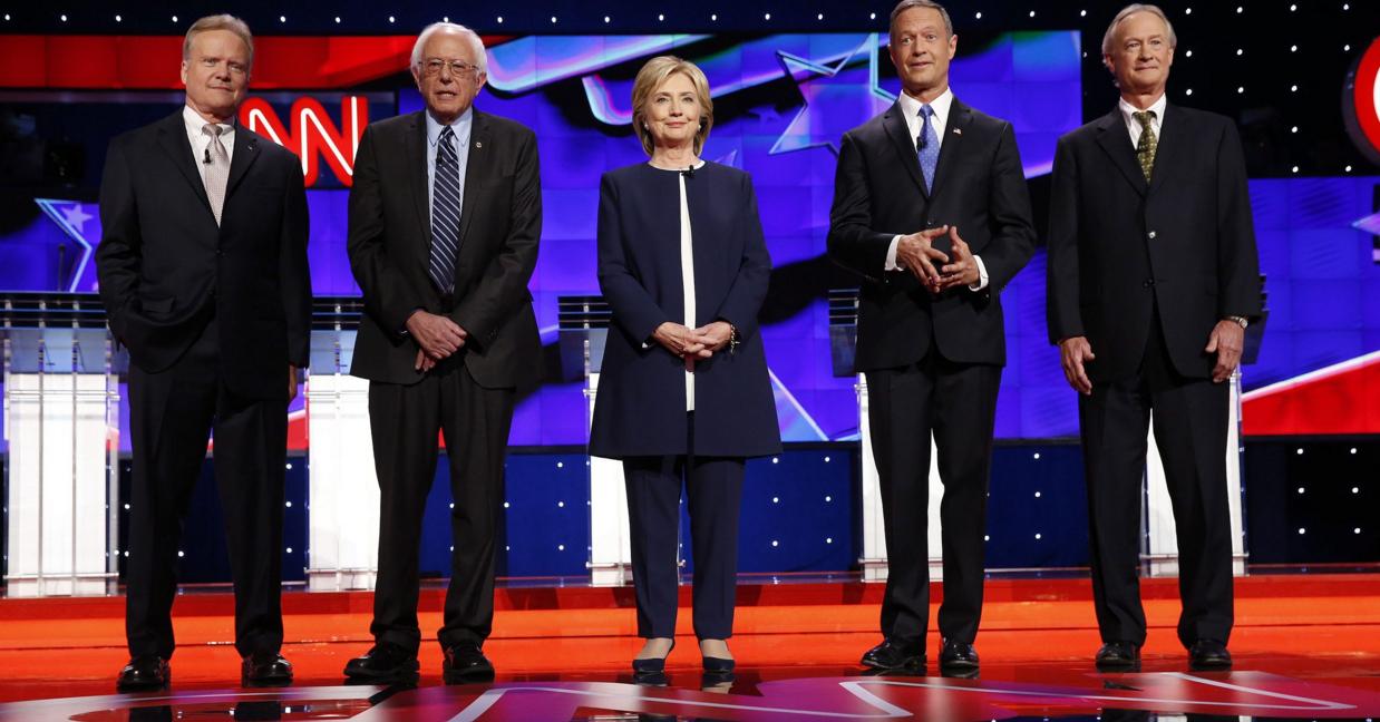 Democratic Debate hillary clinton