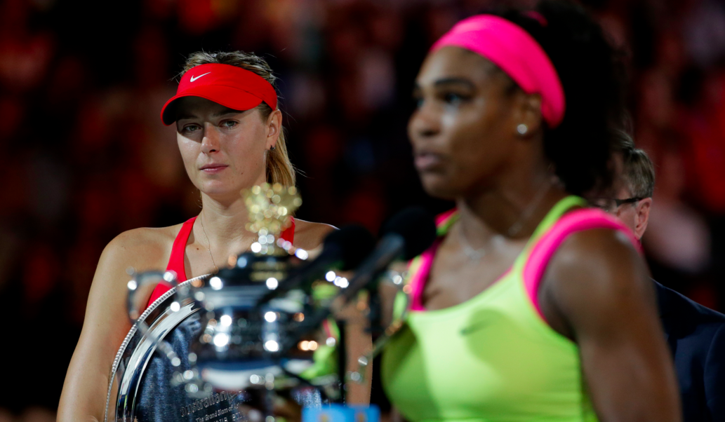 Sharapova Salty Look at Serena Williams