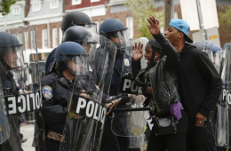 black lives matter Police Clash