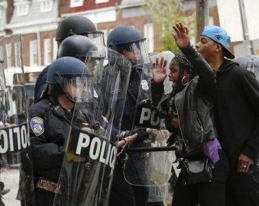 black lives matter Police Clash