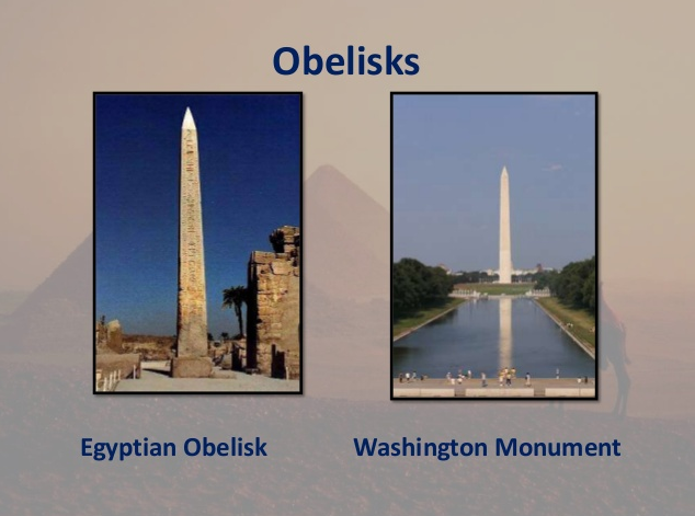 Washington Monument Egypt Obelisk side by side