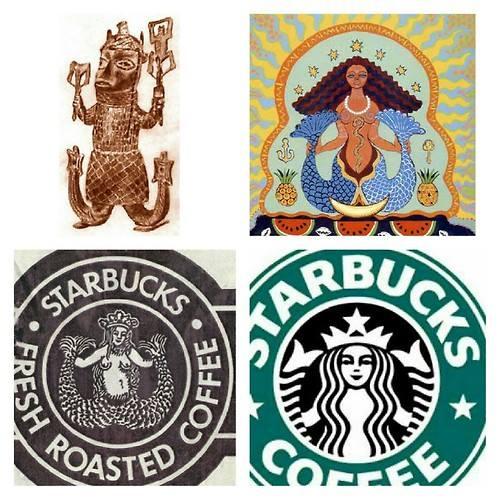 starbucks logo african goddess
